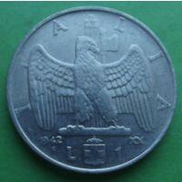 Италия. 1 лира 1942.