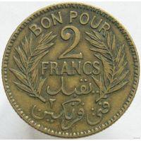Тунис 2 франка 1921 (292)