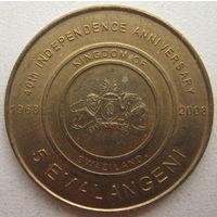 Свазиленд 5 эмалангени 2008 г. 40 лет независимости
