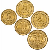 Таджикистан набор 5 монет 2006 UNC