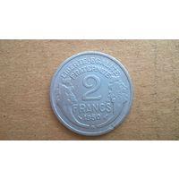 """Франция 2 франка, 1950""""B"""". (D-20)"""