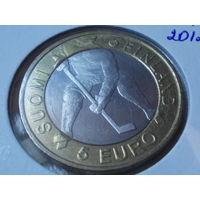 Финляндия 5 евро 2012.Чемпионат мира по хоккею.