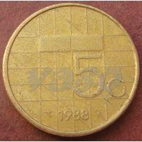 4673:  5 гульденов 1988 Нидерланды