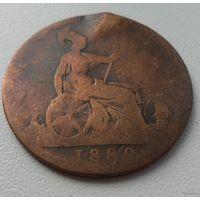 1 пенни 1889 г.в. Великобритания - из коллекции