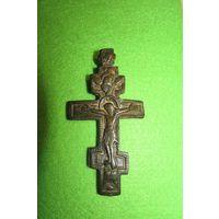 Нательный крест (распятие)(18 век)(10 на 5 см)(Предлагайте цену)