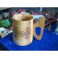 Кружка деревянная 15 см.