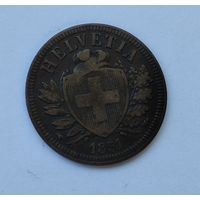 Швейцария 2 раппена, 1851 7-5-37