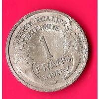 22-12 Франция, 1 франк 1945 г.