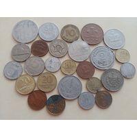 Солянка иностранных монет мира, одним лотом