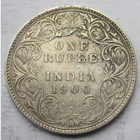 Индия, рупия, 1900, серебро