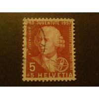 Швейцария. 1957г. Л. Эйлер-астроном и физик.