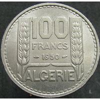 1к Алжир 100 франков 1950 В КАПСУЛЕ распродажа коллекции