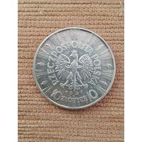 10 злотых 1937 г. Ю. Пилсудский