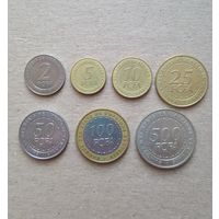 Центральная Африка комплект монет 2,5,10,25,50,100,500 франков 2006