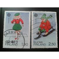 Финляндия 1989 Европа детские игры полная серия
