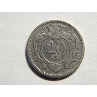 Австро-Венгрия 20 геллеров 1894г
