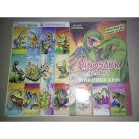 Альбом наклеек Dinosaur Planet (полностью собранный)