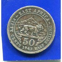 Британская Восточная Африка 50 центов 1963