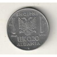 Албания 0,2 лек 1940