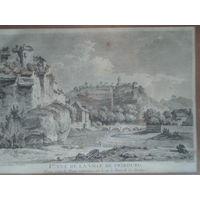 Офорт Вид на Фрибург. 1780-е годы. 1