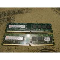 Память DDR2 Hynix 4 планки по 512Mb
