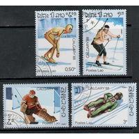Лаос /1987/ Спорт / Зимние Виды Спорта / Олимпийские Игры  Калгари 1988 / Хоккей / 4 Марки