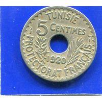 Тунис 5 сантимов 1920