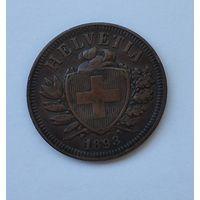 Швейцария 2 раппена, 1893  7-5-40