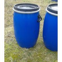 Бочки пластиковые б/у (2шт.) 60-70 литров