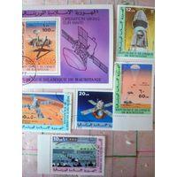 Мавритания. Космос. Серия 5 м., 1 блок