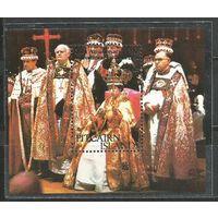 Питкэрн. Королева Елизавета II. 25 лет на троне. 1978г. Mi#Бл4.