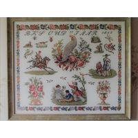 Картина вышивка в рамке 65x55 (размер с рамкой)