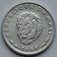 Мали 25 франков. 1961