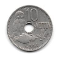 КОРОЛЕВСТВО ГРЕЦИЯ 10 ЛЕПТА 1912. СОВА