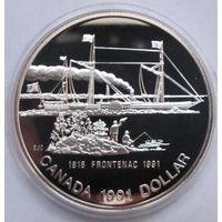 Канада, доллар, 1991, серебро, пруф