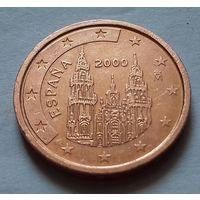 2 евроцента, Испания 2000 г.