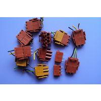 Разъемы универсальные с шагом 6,35 мм NLSG-1X3 и NLSW-1X3 (пара)