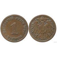 YS: Германия, Рейх, 1 пфенниг 1890E, KM# 10
