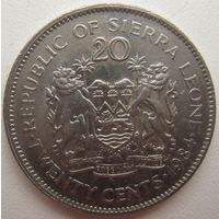Сьерра-Леоне 20 центов 1984 г.