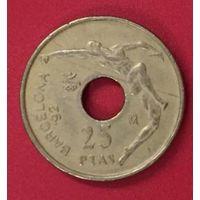 Испания 25 песет 1991, XXV летние Олимпийские Игры, Барселона 1992