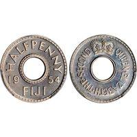 Фиджи 1/2 пенни 1954 Елизавета II UNC