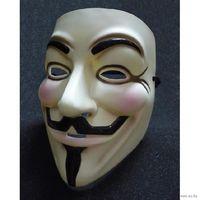 Маска Гая Фокса V for Vendetta Anonymous (бежевая)