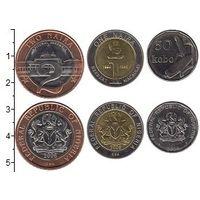 Нигерия набор 3 монеты 2006 UNC