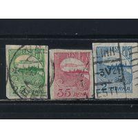Эстония Респ 1920 Рига Стандарт#15-17