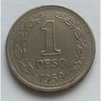 Аргентина, 1 песо,1959 год