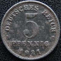 YS: Германия, 5 пфеннигов 1921D, KM# 19 (1)