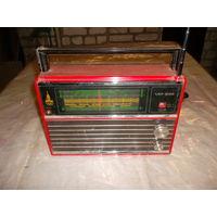Радиоприемник VEF-202 красного цвета c олимпийской символикой! 1979 г.в.