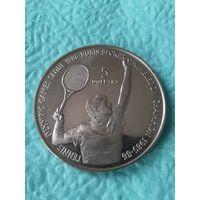 Ниуэ 5 долларов 1987 XXIV летние Олимпийские Игры Сеул 1988 Теннис Борис Беккер