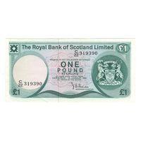 Шотландия 1 фунт 1981 года. Состояние XF+/aUNC!