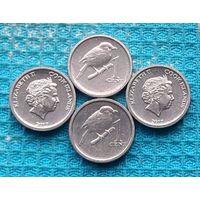 Острова Кука 1 цент. UNC. Птица Крапивник. Королева Елизавета II.